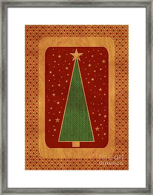 Luxurious Christmas Card Framed Print