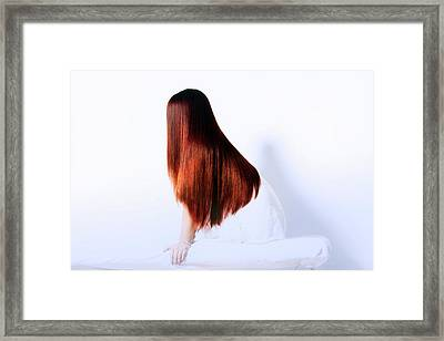 Luxurious Hair Framed Print
