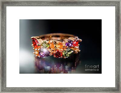 Luxury Gemstone Fine Jewelry Rings Framed Print