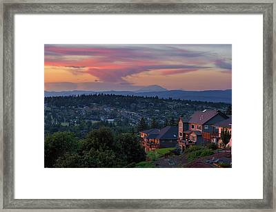 Luxury Homes In Happy Valley Oregon Framed Print by David Gn