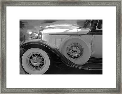 Luxury Lincoln Bw Framed Print