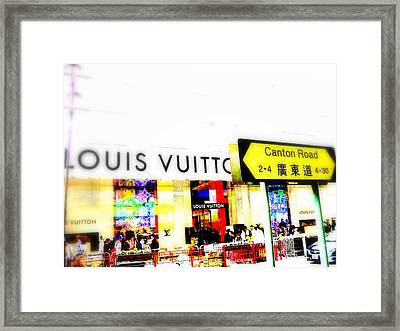 Luxury Shopping For Chinese In Hong Kong  Framed Print by Funkpix Photo Hunter