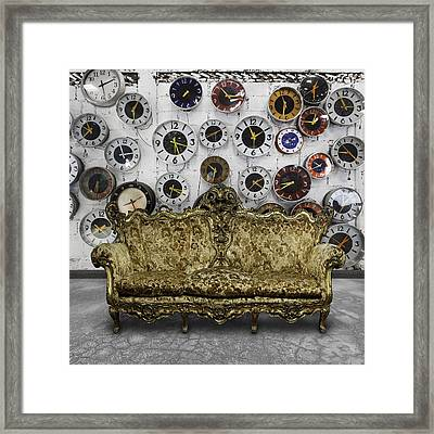 Luxury Sofa  In Retro Room Framed Print by Setsiri Silapasuwanchai