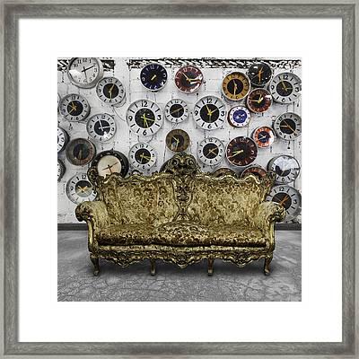 Luxury Sofa  In Retro Room Framed Print by Setsiri Silapasuwanchai