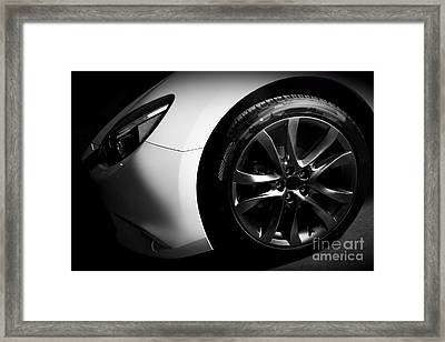 Luxury Sports Car Close Up Of Aluminium Rim And Headlight Framed Print