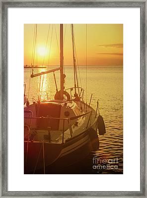 Luxury Yacht Framed Print by Jelena Jovanovic