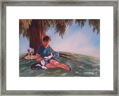 Luz And Me Framed Print by Marilyn Jacobson