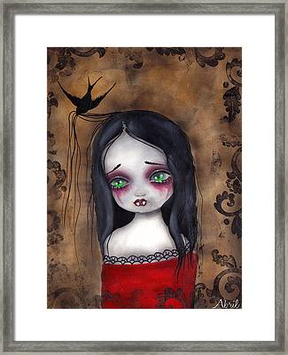 Luzie Framed Print by  Abril Andrade Griffith