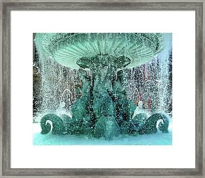 Lv Fountain Framed Print