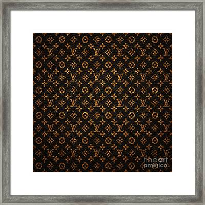 Lv Pattern Framed Print by Janis Marika