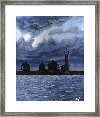 Lydia Ann Lighthouse Framed Print