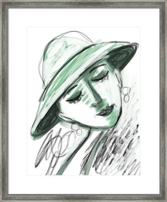 Framed Print featuring the digital art Lydia by Elaine Lanoue