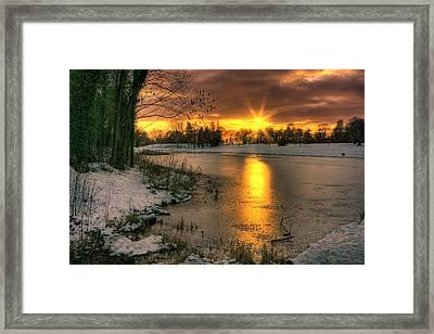 Lydiard Sunset Framed Print