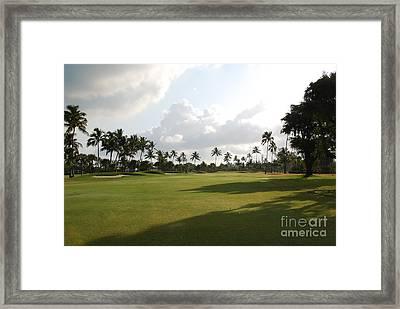 Lyford Cay Golf Club The Bahamas Framed Print by Jan Daniels