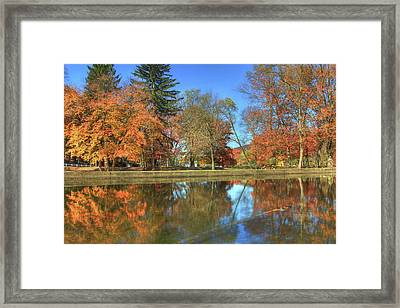 Framed Print featuring the photograph Lykens Glen Reflections by Lori Deiter