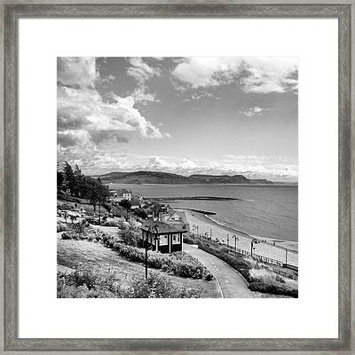 Lyme Regis And Lyme Bay, Dorset Framed Print by John Edwards