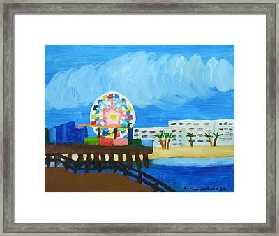Lyndas Ferris Wheel Framed Print by Anthony Larocca