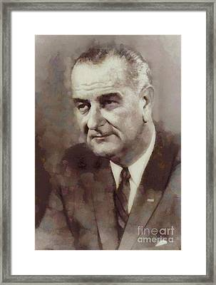 Lyndon B. Johnson, President Of The United States By Sarah Kirk Framed Print