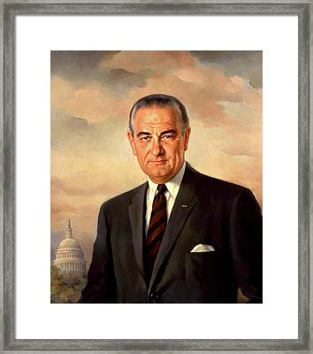 Lyndon Baines Johnson Framed Print