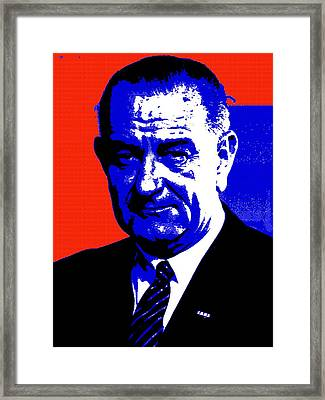 Lyndon Baines Johnson Framed Print