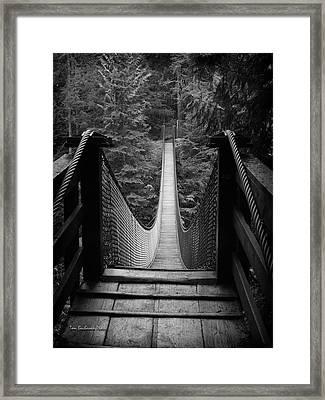Lynn Canyon Bridge Framed Print by Tom Buchanan