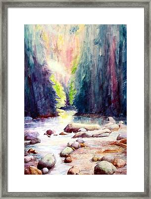 Lynn Creek Canyon Framed Print by David Sullins
