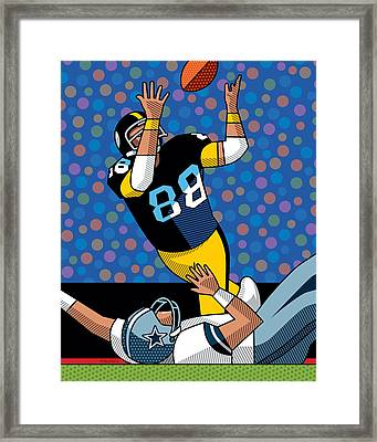 Lynn Swann Super Bowl X Framed Print by Ron Magnes