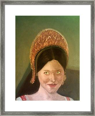Lynne Frederick As Queen Katherine Howard Framed Print
