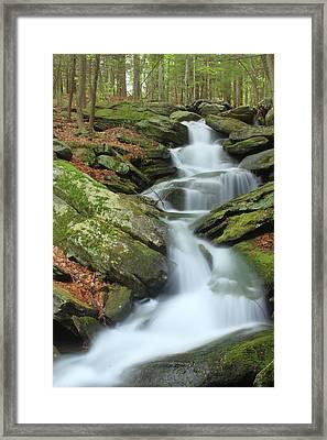 Lynnes Falls New England National Scenic Trai Framed Print by John Burk