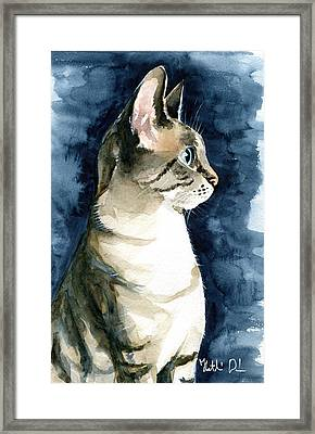 Lynx Point Cat Portrait Framed Print