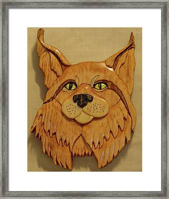 Lynx Framed Print by Russell Ellingsworth