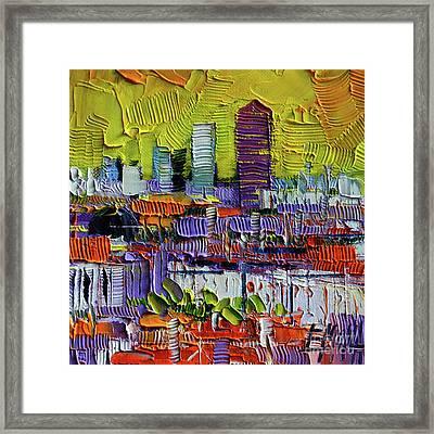 Lyon At Sunrise Framed Print by Mona Edulesco