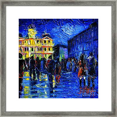 Lyon Festival Of Lights Framed Print by Mona Edulesco