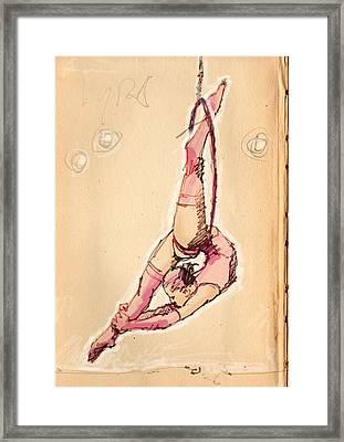 Lyra In Pink Framed Print by H James Hoff