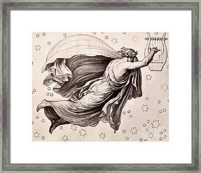 Lyre Of Orpheus Framed Print by Granger