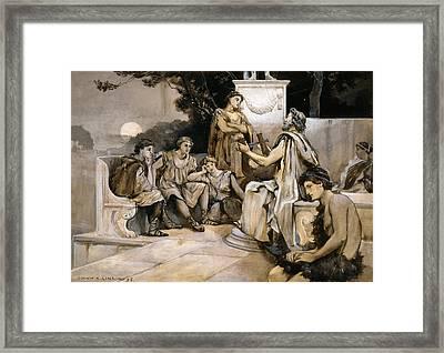 Lyre Of Pindar, 1896 Framed Print by Granger