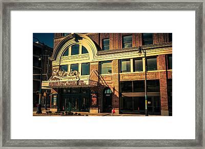 Lyric Theater Framed Print by Phillip Burrow