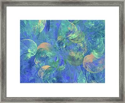 Lyrical Nature Abstract Framed Print by Georgiana Romanovna