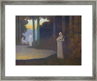 Lyricism In The Forest Framed Print