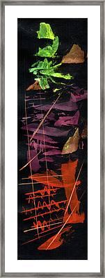 Lyrique Rhythm In Red Framed Print by R Kyllo