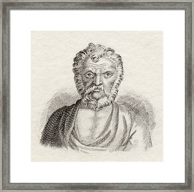 Lysias, C. 445 Bc To C. 380 Bc Framed Print