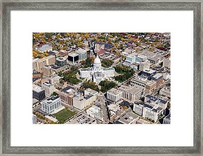 M-004 Madison Wisconsin Capitol Framed Print
