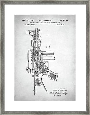 Framed Print featuring the digital art M-16 Rifle Patent by Taylan Apukovska