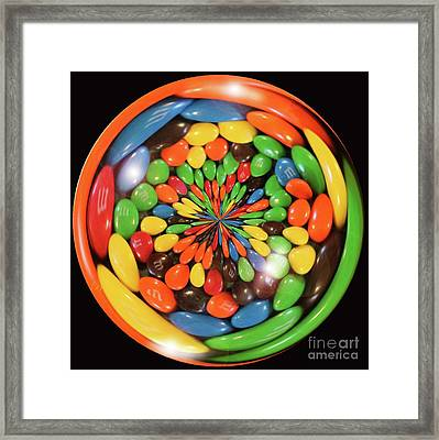 M And Ms Framed Print