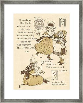 M And N Abc Book Framed Print by Reynold Jay