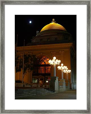 Framed Print featuring the photograph M And T Bank At Night by Don Nieman