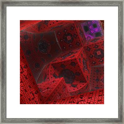 Framed Print featuring the digital art M Cubed by Lyle Hatch