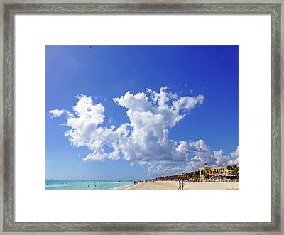 Framed Print featuring the digital art M Day At The Beach by Francesca Mackenney
