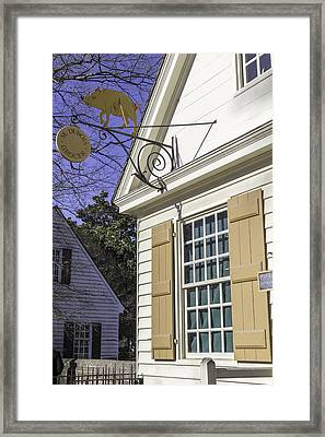 M Dubois Grocer Colonial Williamsburg Virginia Framed Print by Teresa Mucha