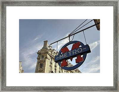 M For Metro  Framed Print by Rob Hawkins
